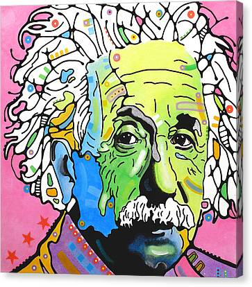 Canvas Print featuring the painting Einstein by Dean Russo