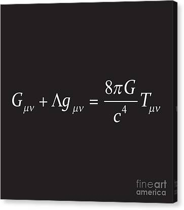 Einstein Field Equation Formula Canvas Print
