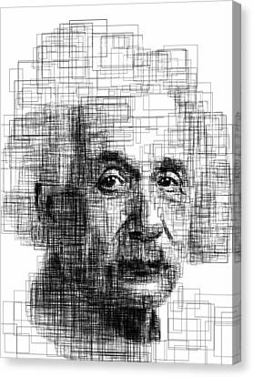 Einstein  Canvas Print by Harold Belarmino