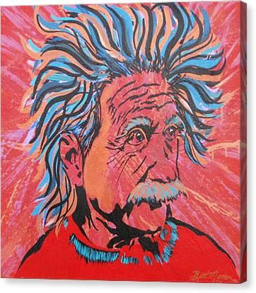 Einstein-in The Moment Canvas Print