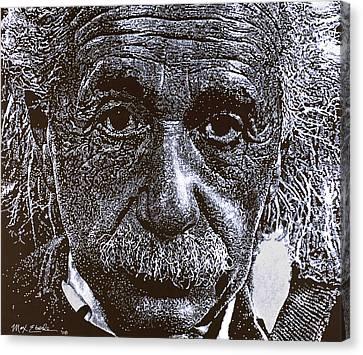 Einstein Canvas Print by Max Eberle