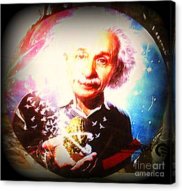 Einstein On Pot Canvas Print