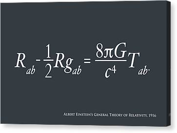 Einstein Theory Of Relativity Canvas Print