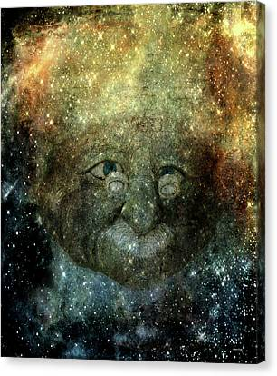 Einsteins Cosmic Travels Canvas Print by Lesa Fine