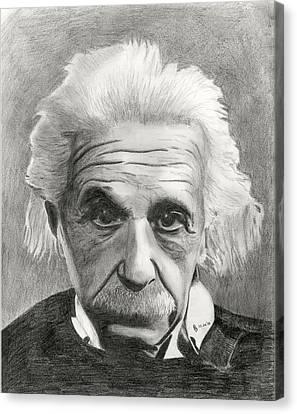 Einstein's Eyes Canvas Print by Charles Vogan