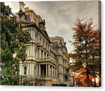 Kevin Hill Canvas Print - Eisenhower Building by Kevin Hill