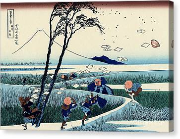 Ejiri In The Suruga Province Canvas Print by Hokusai