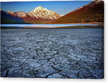 Dry Lake Canvas Print - Eklutna Lake by Rick Berk