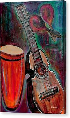 El Boricua Instruments Canvas Print