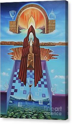 El Camino De La Luz Canvas Print by Jorge L Martinez Camilleri