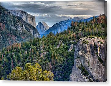 El Capitan And Half Dome Canvas Print