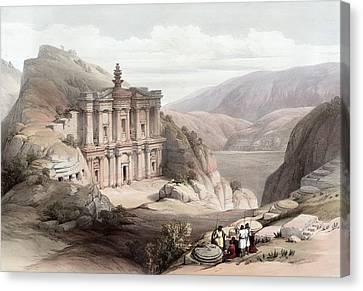 El Deir Petra 1839 Canvas Print
