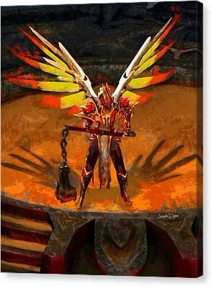El Diablo  - Free Style -  - Da Canvas Print