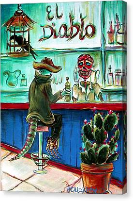 Border Canvas Print - El Diablo by Heather Calderon