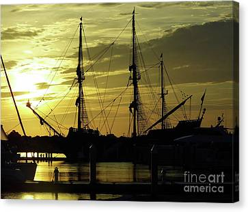 El Galeon Sunrise Canvas Print by D Hackett