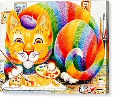 el Gato Artisto Canvas Print by Dee Davis