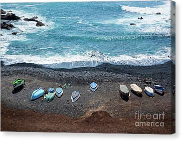Canvas Print featuring the photograph El Golfo by Delphimages Photo Creations