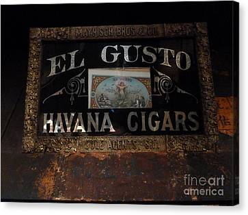 Canvas Print featuring the photograph El Gusto by Newel Hunter