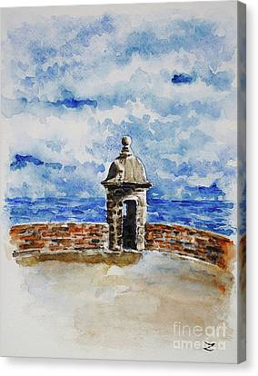 El Morro. The Castle Of San Felipe Del Morro In San Juan  Canvas Print by Zaira Dzhaubaeva