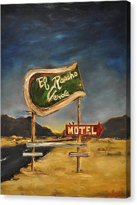Canvas Print featuring the painting El Rancho by Lindsay Frost