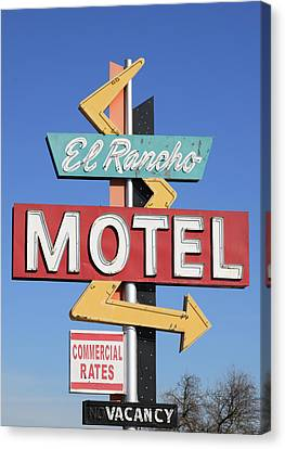 El Rancho Motel Stockton Ca Canvas Print by Troy Montemayor