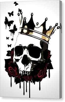 El Rey De La Muerte Canvas Print by Nicklas Gustafsson