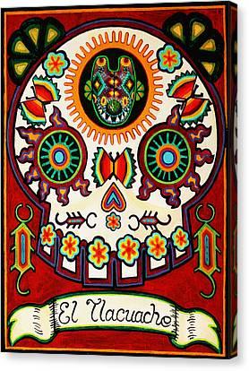 El Tlacuache - The Possum Canvas Print by Mix Luera