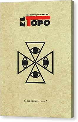 Canvas Print featuring the digital art El Topo by Ayse Deniz