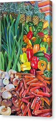 El Valle Market Canvas Print
