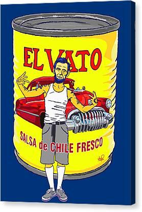 El Vato - Abe Canvas Print by Armando Padilla