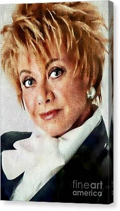 Elaine Paige - Singer Actress Canvas Print by Ian Gledhill