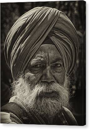 Elderly Sikh  Canvas Print