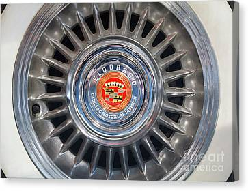 Canvas Print featuring the photograph Eldorado Hubcap by Dennis Hedberg