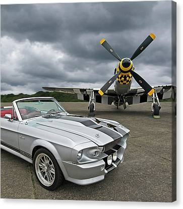 Eleanor Mustang With P51 Canvas Print