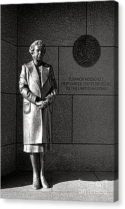 Eleanor Roosevelt Sculpture  Canvas Print by Olivier Le Queinec