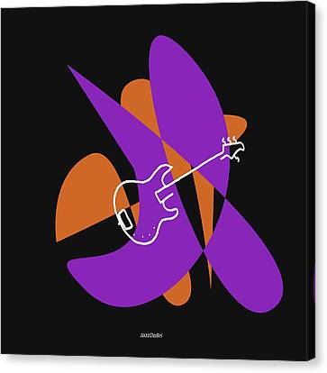 Electric Bass In Purple Canvas Print