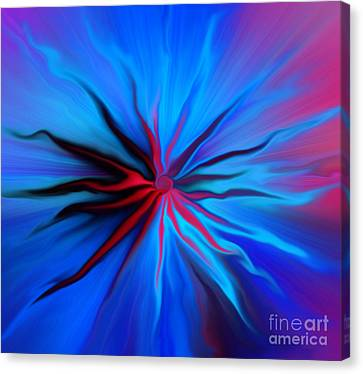 Electric Blue 2 Canvas Print