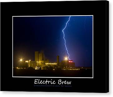 Lightening Canvas Print - Electric Brew Poster by James BO  Insogna