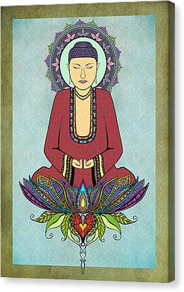 Electric Buddha Canvas Print by Tammy Wetzel