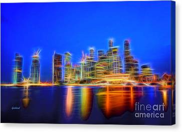 Cities Canvas Print - Electric City by Garland Johnson