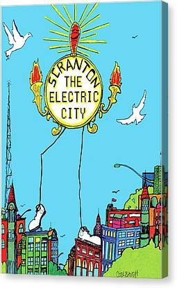 Electric City  Canvas Print