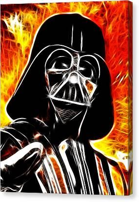 Electric Darth Vader Canvas Print by Paul Van Scott