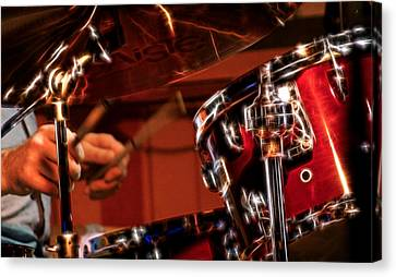 Electric Drums Canvas Print by Cameron Wood