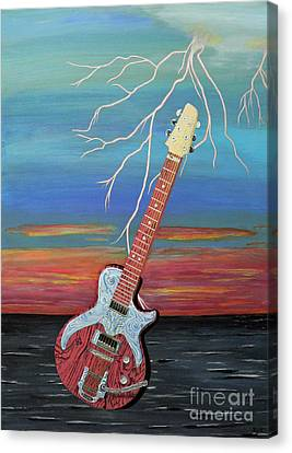 Canvas Print featuring the painting Electric by Eric Kempson