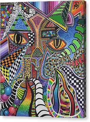Electric Eyes Canvas Print