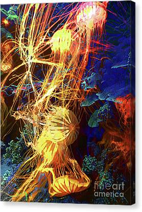 Electric Jellies Canvas Print by Robert Ball