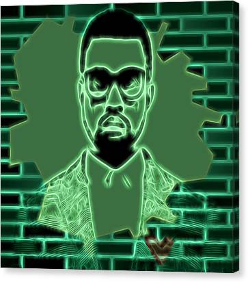 Electric Kanye West Graphic Canvas Print by Dan Sproul