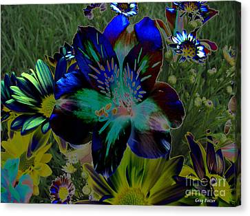 Canvas Print featuring the photograph Electric Lily by Greg Patzer