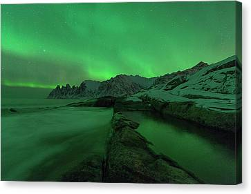 Canvas Print featuring the photograph Electric Night by Alex Lapidus