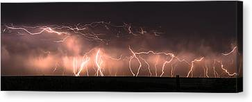 Electric Panoramic Iv Canvas Print